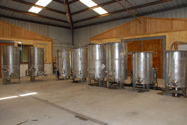 Fermenters in Winery